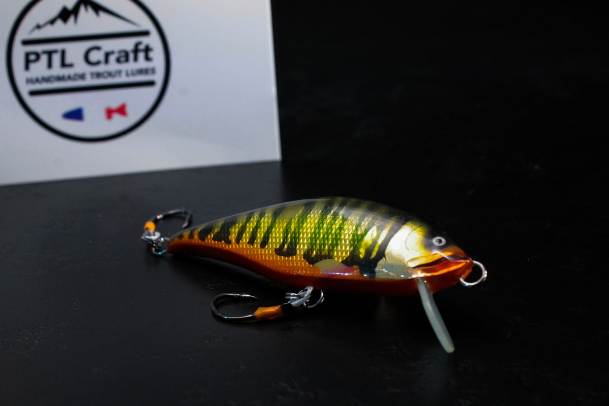 handmade spin lure - from france perch lure single hooks