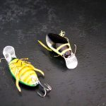 handmade stripes bug lure - up and down